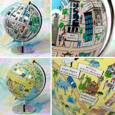 City globes ... very cool.  So far only for Los Angeles and New York.