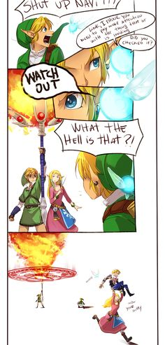 "The Legend of Zelda: Ocarina of Time, The Legend of Zelda: The Wind Waker, The Legend of Zelda: Twilight Princess (Super Smash Bros. Brawl), The Legend of Zelda: Skyward Sword, and Hyrule Warriors / Link, Princess Zelda, Zelda, Fi, Navi, and Toon Link / ""I think I'm posting this a bit late but ….I don't..."" - Work by Hunter x Hunter ♥ The Legend of Zelda (5)"