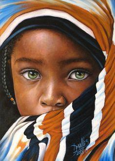 74 African Child Oil on canvas 25 x 35 cm 2013 Dora Alis