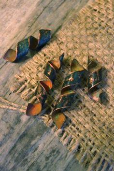 Set of 4 spiral copper dreadlock beads in antiqued by CuprumFactum