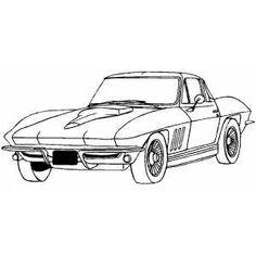 Corvette Coloring Pages | Coloring Pages | Pinterest | Corvette