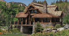 Log Home Plans - PrecisionCraft Log Homes & Timber Frame - Alderbrook Floor Plan - Log Home Plans.com