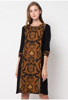 Megawati Dress from bhatara batik in black