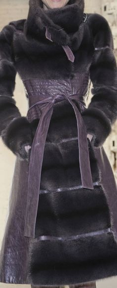 Purple fur and leather
