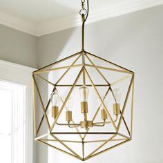 Large Prism Chandelier antique_brass - shades of light