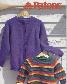 Patons 765 Upside Downers in Chunky/ weight yarn Sweater Cardigan, Men Sweater, Cardigans, Sweaters, Yarns, Vests, Crocheting, Knitting Patterns, Knit Crochet