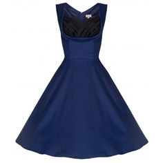 Midnight Blue Vintage Inspired Pin Up Dresses
