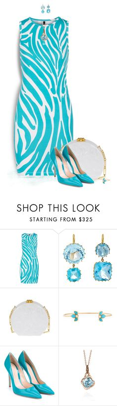 """Aquamarine"" by loveroses123 ❤ liked on Polyvore featuring Versus, Renee Lewis, Edie Parker, ZoÃ« Chicco, Gianvito Rossi and LE VIAN"