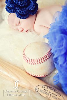 Baseball Themed Newborn Photography Session... But use a football themed!!