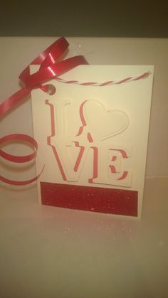 Valentines gift tag card by KlearlyKreative on Etsy