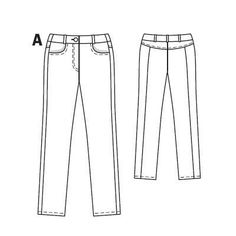 Джинсы - выкройка № 103 A из журнала 7/2010 Burda – выкройки джинсов на Burdastyle.ru