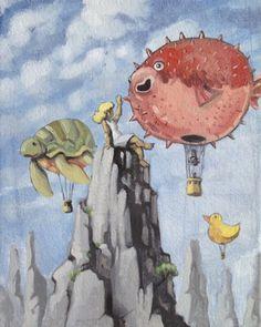 """Saatchi Online Artist Luis Pastor; Painting, """"Dream Balloons"""" #art"""