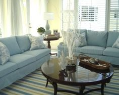 Living room - blue and yello