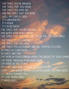 """Love this song. """"Times""""-Tenth Avenue North. I heard this song and fell in love with the lyrics because I felt God speak in me. And I ball everytime. It helped me thru my grandparents' deaths from cancer<3"""