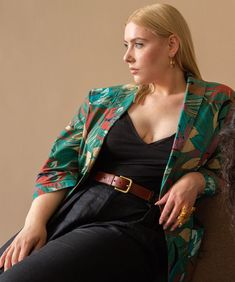 """Suit of Lights Vintage on Instagram: """"the stunning Laurel wearing our tropical blazer and jaguar ring. available now ✨ #suitoflights #readytowhere #shopvintage #slowfashion…"""" Slow Fashion, Jaguar, Vintage Shops, Tropical, Sari, Lights, Blazer, Suits, Ring"""