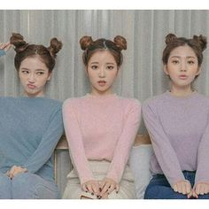 pastel blue pink purple double two buns hair style