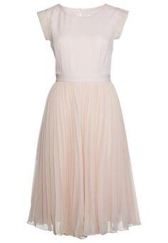Sukienka koszulowa - nude