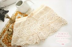 CROCHET lace shorts tuto step by step