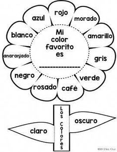 Spanish Interactive Notebook Activity:  Los Colores