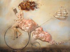 Saatchi Online Artist: oleg tchoubakov; Oil, Painting paper boat