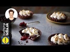 Kakaové tartaletky s višňami - Adriana Poláková - RECEPTY KUCHYNA LIDLA - YouTube Waffles, Lidl, Cheesecake, Muffin, Pudding, Baking, Breakfast, Food, Youtube