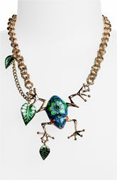 Betsey Johnson Rio Frog necklace...I WANT this ♥
