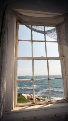 bluepueblo: Lighthouse Window, Cape Cod, Massachusetts photo via jules Cottages By The Sea, Beach Cottages, Window View, Side Window, Through The Window, Coastal Living, Windows And Doors, Big Windows, Belle Photo
