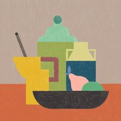 Still Life on Behance. Food and object illustration Art And Illustration, Food Illustrations, St Patricks Day History, Art History, Ancient History, Black History, Art Inspo, Still Life, Vector Art