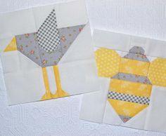It's a bird and a bee! Hehe! They're the #crowblock and #honeybeeblock - greydogwoodstudio