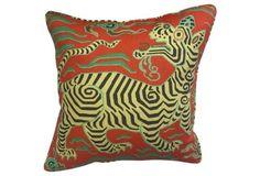 Clarence House Tibet    Dragon   Pillow