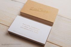 Foil stamp kraft white classic vintage visiting card design - Little Things | RockDesign Luxury Business Card Printing