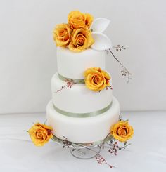 Wedding Cake Topper  Golden Yellow Rose Calla by ItTopsTheCake, $43.00
