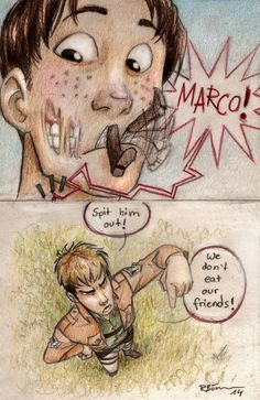 We don't eat our friends by CaptBexx.deviantart.com on @deviantART if marco was a titan