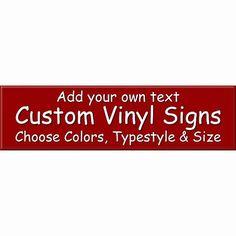 Custom Vinyl Signs Fsmily Name Home Nursery by StellasVinylWallArt