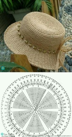 Than Fedora Hat Crochet Pattern Free 15 # knit crochet hat pattern Crochet Summer Hats, Crochet Cap, Crochet Diagram, Crochet Beanie, Crochet Motif, Knitted Hats, Crochet Patterns, Knitting Patterns, Hat Patterns