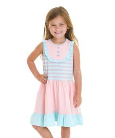 Look at this Cotton Candy Aubrie's Yoke Tank Dress - Infant, Toddler & Girls on #zulily today!
