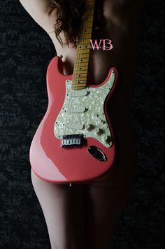 Warwick Boudoir Photography www.warwickboudoir.com info@warwickboudoir.com  713 - 248 - 3300 Houston, Texas nude photoshoot desert rose guitar electric  ...