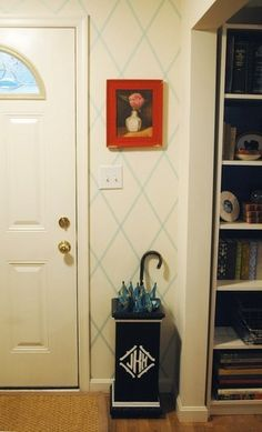 Washi-tape-wall-art and the umbrella holder seems easier enough for a diy