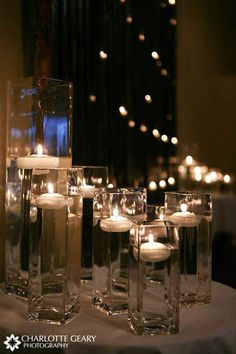 Wedding Ceremony Candles on Arrangement Of Floating Candles For Candlelit Ceremony