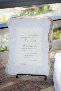 Keepsake Wedding Invitation Plaque