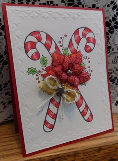 Candy Christmas by Shoe Girl - Cards and Paper Crafts at Splitcoaststampers Stampin Up Christmas, Christmas Cards To Make, Christmas Candy, Xmas Cards, Christmas Themes, Christmas Crafts, Cards Diy, Handmade Cards, Exploding Boxes