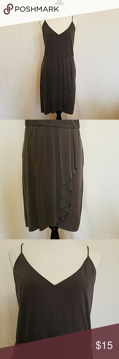 NWT Gray H&M dress Cute spaghetti strap dress with stretchy fabric and detail on the skirt. H&M Dresses Midi