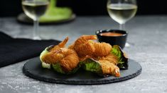 Recipe with video instructions: These tornado shrimp got will have your head spinning! Shrimp Appetizers, Shrimp Recipes, Fish Recipes, Appetizer Recipes, Salmon In Puff Pastry, Sriracha, Tastemade Recipes, Phyllo Dough, Seafood Dinner