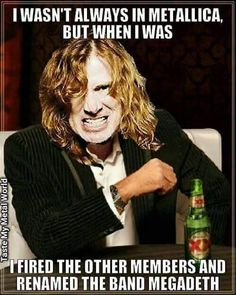 Metallica Song, Bullet For My Valentine, Greatest Rock Bands, Roger Waters, Rockn Roll, Music Humor, Thrash Metal, Black Sabbath, Metalhead