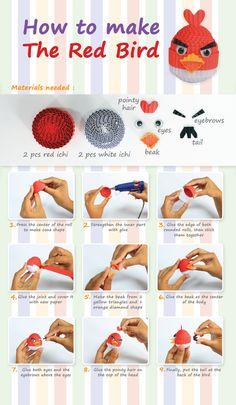 how to make the red bird #kokoru