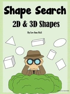 FREEBIE - 2D and 3D Shapes Write the Room, K.G.A.1, K.G.A.2, K.G.A.3