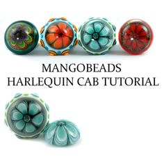 Harlequin Cabochon - Lampwork Tutorial by Mangobeads