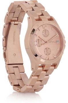 Really diggin' rose gold watches! Marc Jacobs
