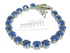 Armband mit Swarovski Elements -Uni- Caprie Blue Günstig