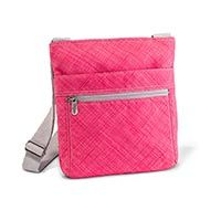 "Organizing Shoulder Bag in Coral Cross Pop | Thirty-One Gifts.  I have never found a purse that truly says, ""me"" until I started using the Thirty-One purses.  I am in love with this new print in this bag.  Guess I will have to purchase another one!"
